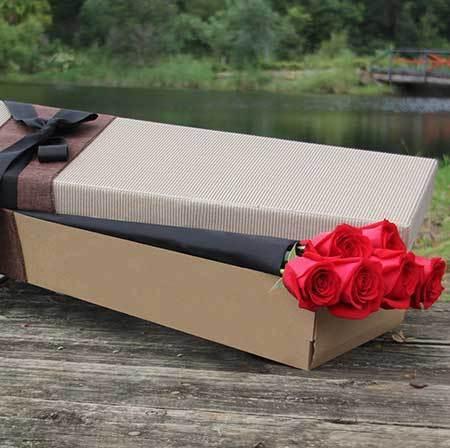 6 Long Stemmed Red Roses
