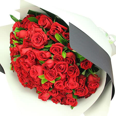 99 Red rose bouquet