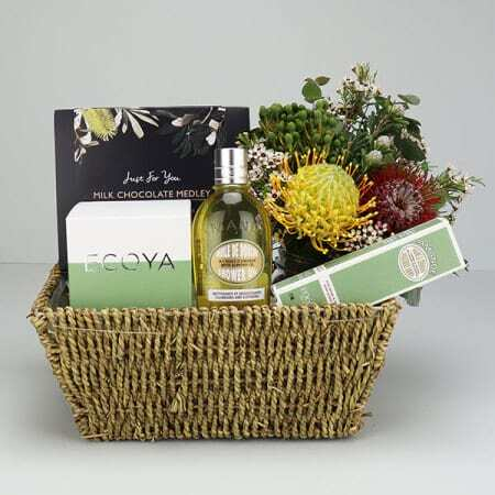 Almond and French Pear Gift Basket