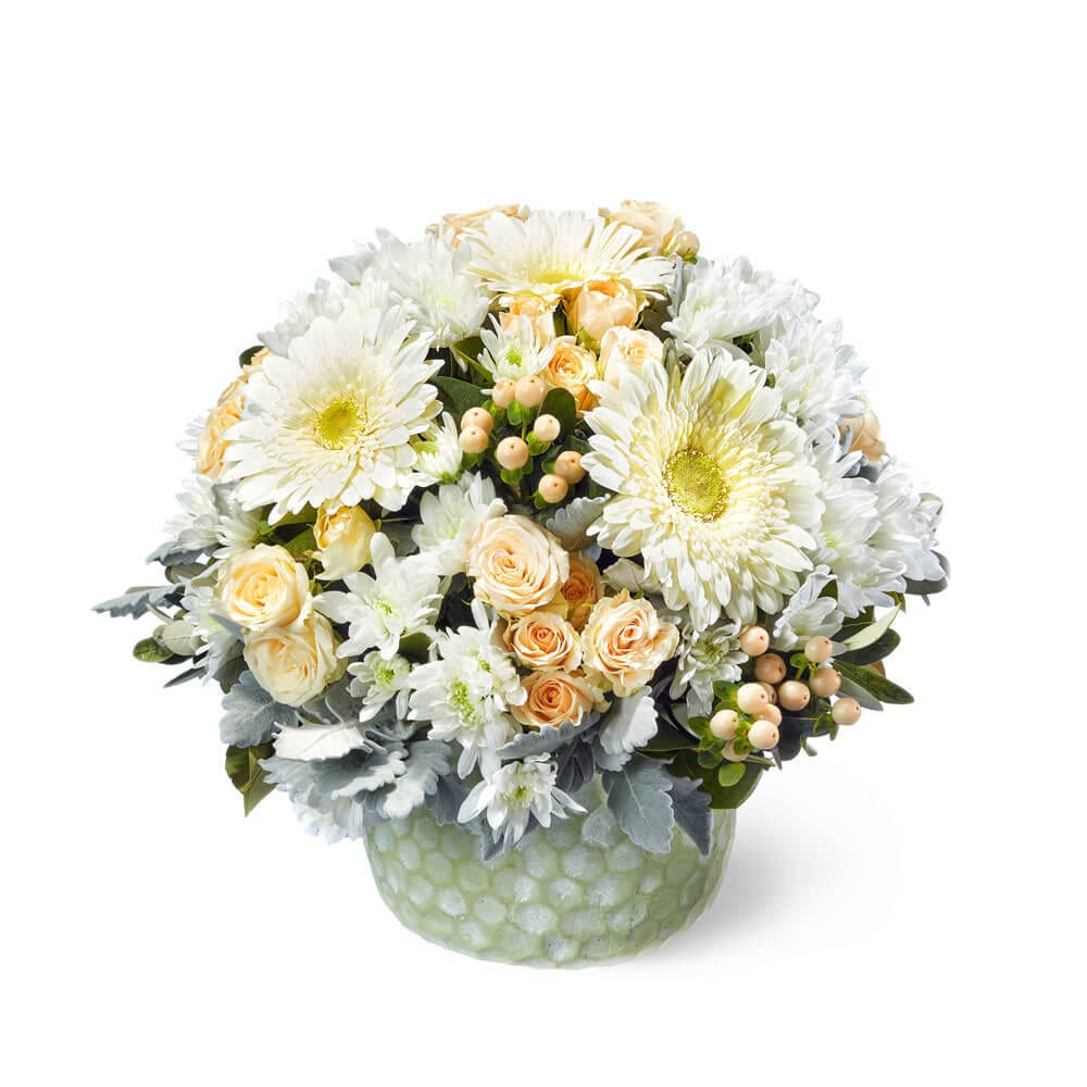 Apricot Cream Flower Arrangement Delivered in Sydney