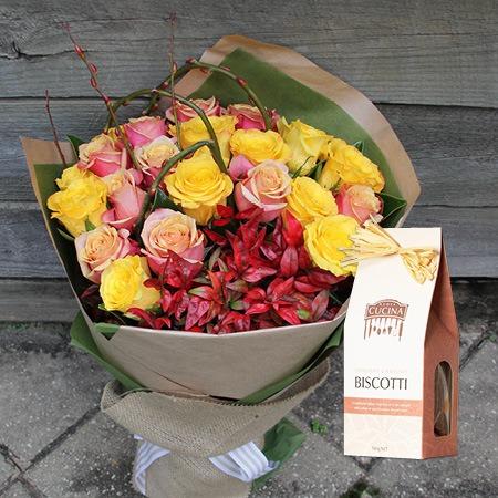 Autumn Roses with Hazelnut Biscotti (Sydney Only)