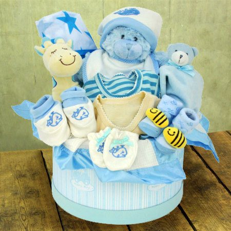 Baby Boy Hamper Gift Arrangement Flowers For Everyone