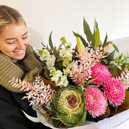 Winter Beauty Lily & Kale Bouquet