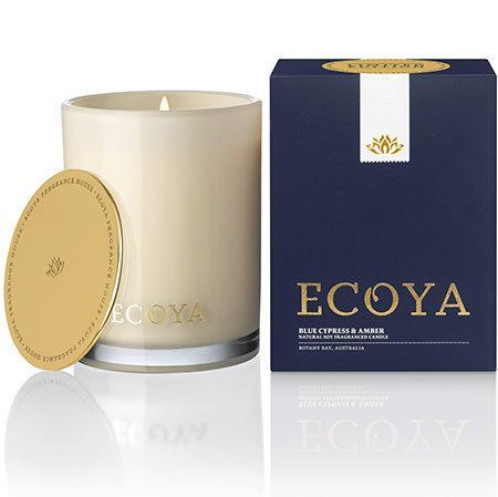 Blue Cypress & Amber Limited Edition Ecoya Soy Wax Candle (80hr burn)