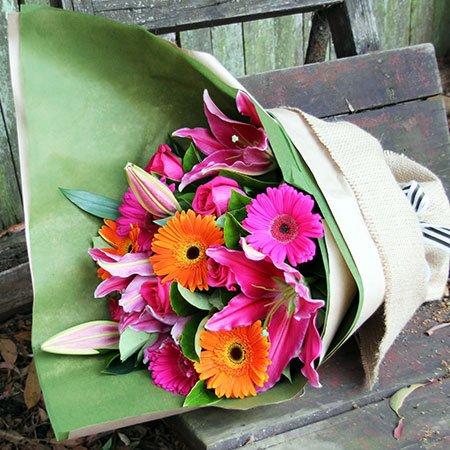 Bountiful Bouquet - Four Bonus Gerbera Stems