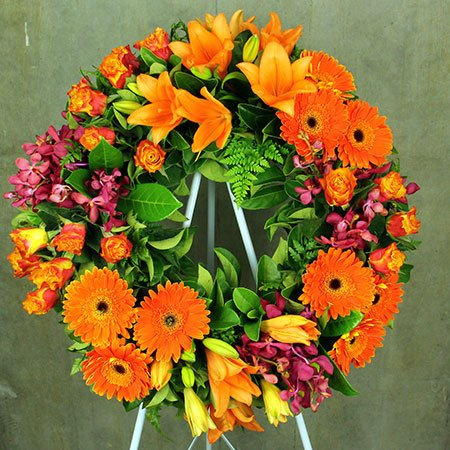 Warm Toned Floral Sympathy Tribute