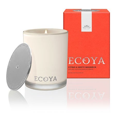 Citrus & White Magnolia Ecoya Madison Jar Candle (80 hr burn)