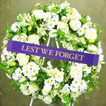Classic White Anzac Day Wreath