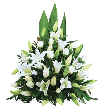 Classical White Funeral Flowers