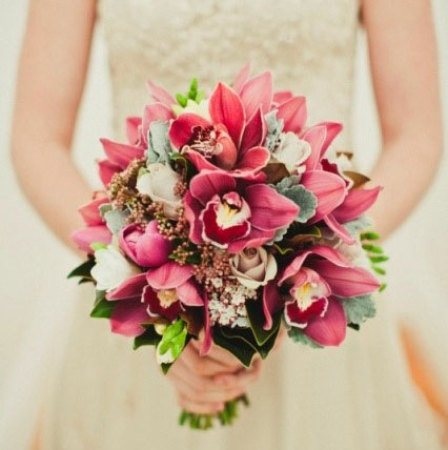 Medium Clustered Bridal Bouquet