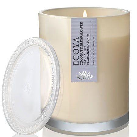 Coconut & Elderflower Soy Wax Ecoya Candle (55 hr burn)