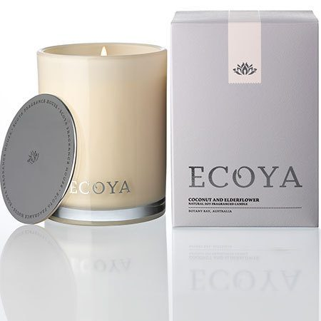 Coconut & Elderflower Ecoya Madison Jar Candle (80 hr burn)