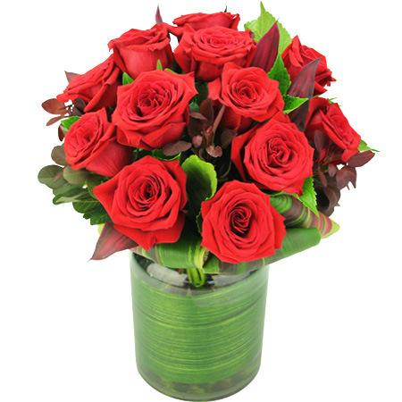 Valentines Colombian rose vase