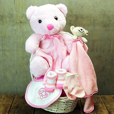 Rock a Bye Bear Baby Hamper (Pink or Blue)