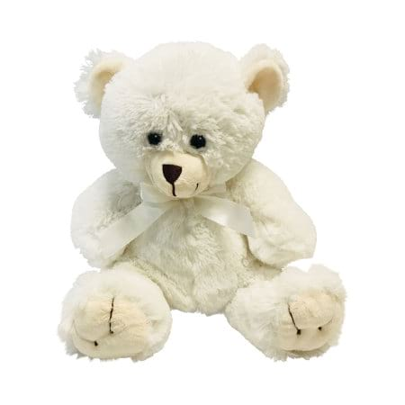 Cute White Teddy Bear (20cm) Delivered