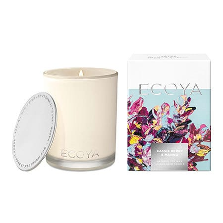 ECOYA Cassis Berry and Mango Candle