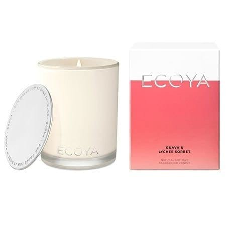 ECOYA Guava and Lychee Sorbet Candle 80hr (Sydney Only)