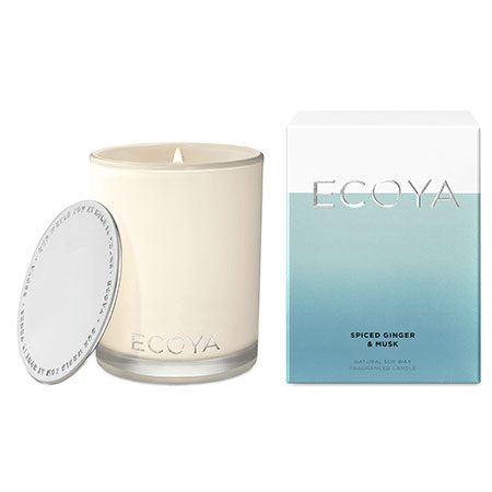 ECOYA Spiced Ginger and Musk Candle 80hr