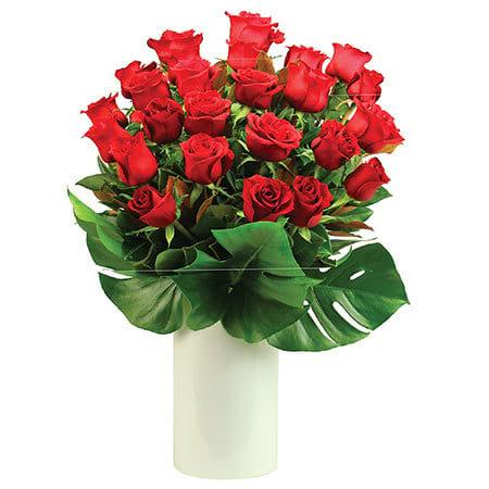 Elegant Rose Chapel Vase by Sydney`s Expert Funeral Florist