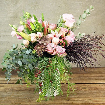 Elegant Winter Vase Arrangement