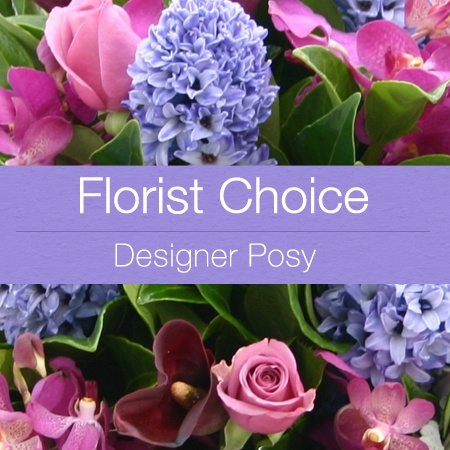 Florist Choice Designer Purple Posy