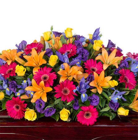 Funeral Casket Flowers - Bright Mixed