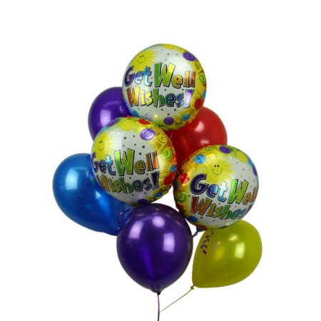 Get Well Balloon Bouquet Delivered Online Flowers For