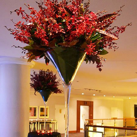 Giant Wine Glass Vase Arrangements