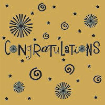 Gift Card Congratulations Gold