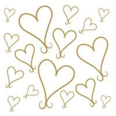 Gift Card Gold Hearts