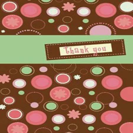 Gift Card Thank You Retro
