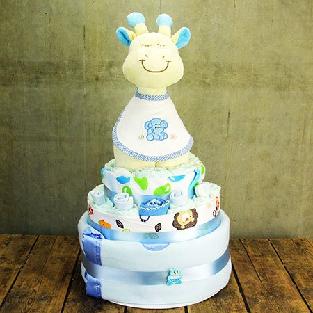Gigi the Giraffe Nappy Cake (Pink, Blue or Yellow)