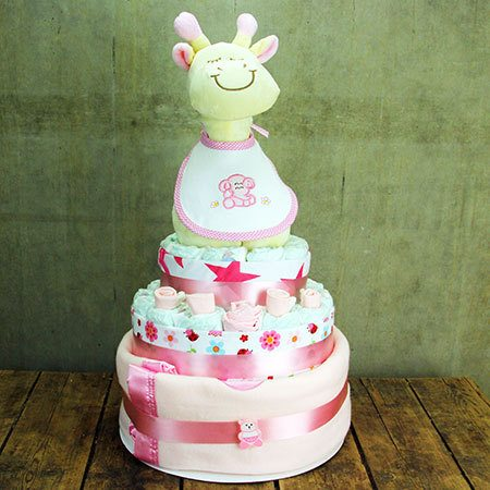 Gigi the Giraffe Nappy Cake (Pink)