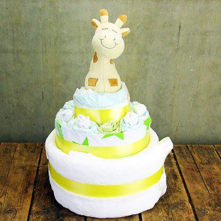 Gigi the Giraffe Nappy Cake (Yellow)