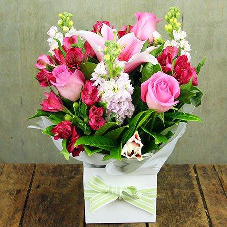 Girly pink flower box mightylinksfo
