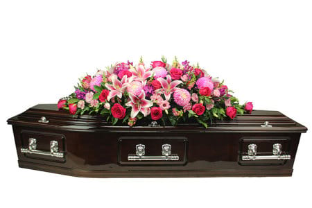 Gorgeous Pink Casket Flowers