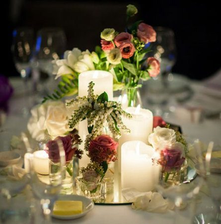 Guest Table Bud Vase Groupings