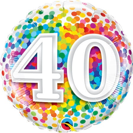 happy 40th birthday balloon