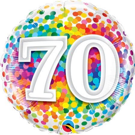 Happy 70th Birthday Balloon