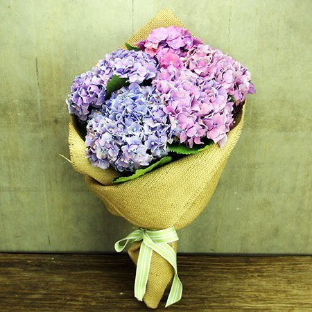 Hydrangea Posy with Free Candle (Syd and Melb Only)