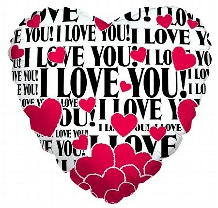 I Love You! balloon