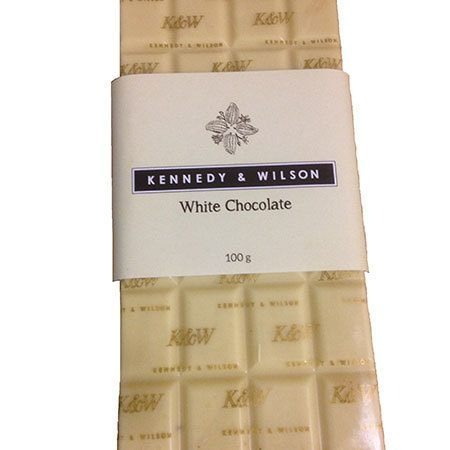 Kennedy & Wilson White Chocolate Bar (100g) Gluten Free