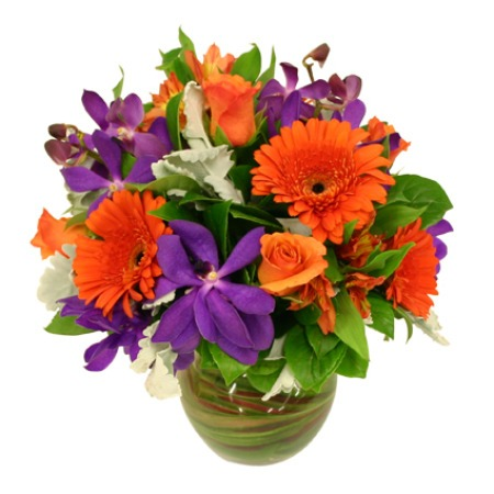 autumn-posy-in-vase