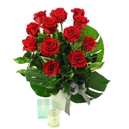 Lady in Red - 12 Long Stem Red Roses (Sydney Only)