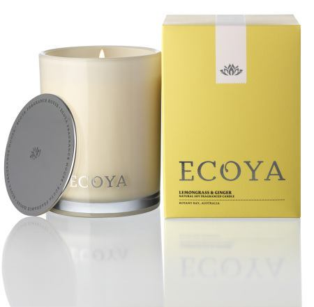 Lemongrass & Ginger Ecoya Madison Jar Candle (80 hr burn)