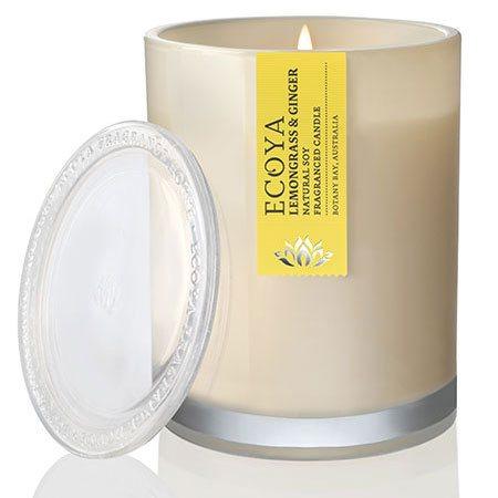 Lemongrass & Ginger Soy Wax Ecoya Candle (55 hr burn)