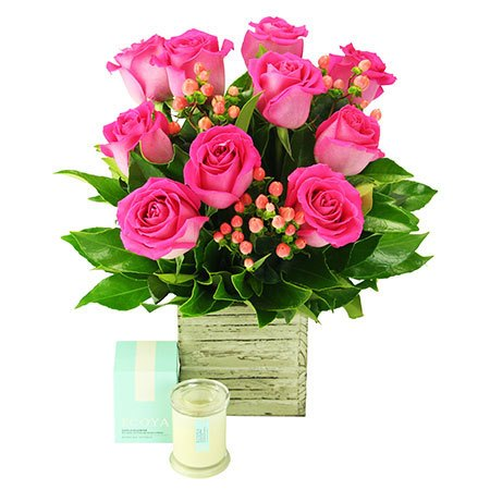 Little Box of Love - 10 Pink Roses (Sydney Only)