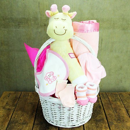 Little Giraffe Baby Hamper (Blue or Pink)