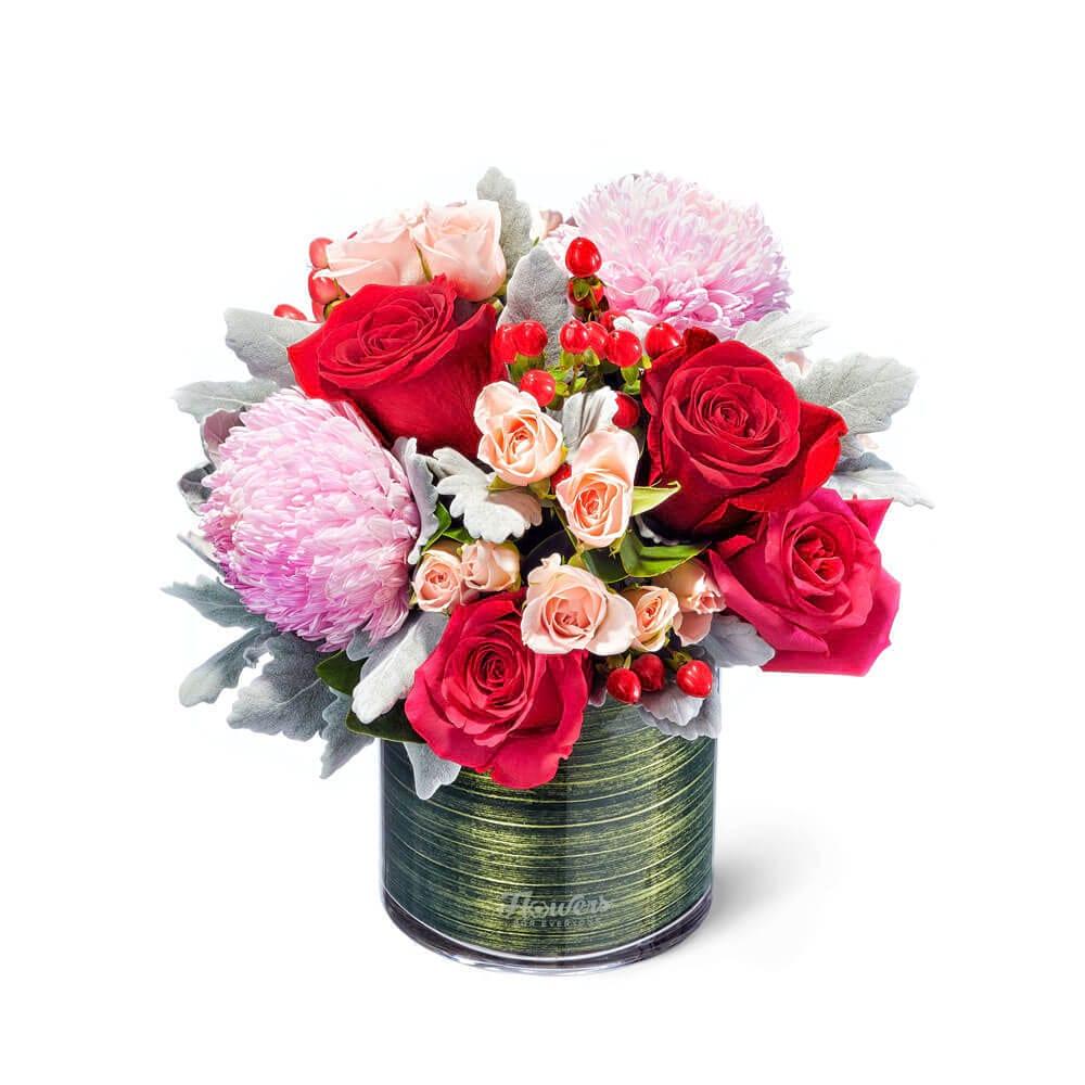Little Vase of Romance Flowers Delivered