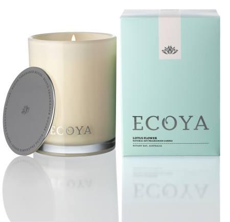 Lotus Flower Ecoya Madison Jar Candle (80 hr burn)